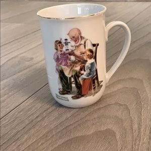 Norman rockwell vintage cup